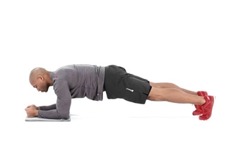 Wide-stance Plank with Opposite Arm and Leg Lift