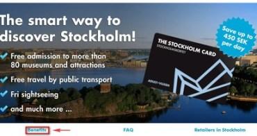 北歐行 - 【瑞典】如何使用斯德哥爾摩卡Stockholm Card?