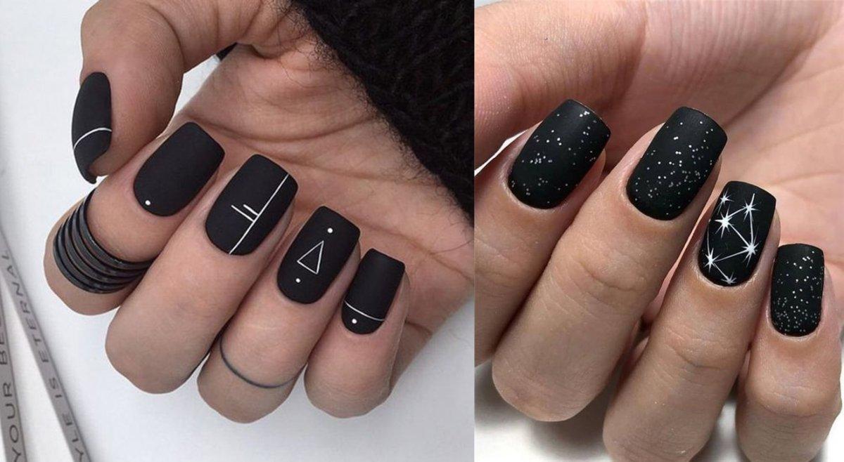 Czarne Paznokcie 20 Pomyslow Na Ponadczasowy Czarny Manicure