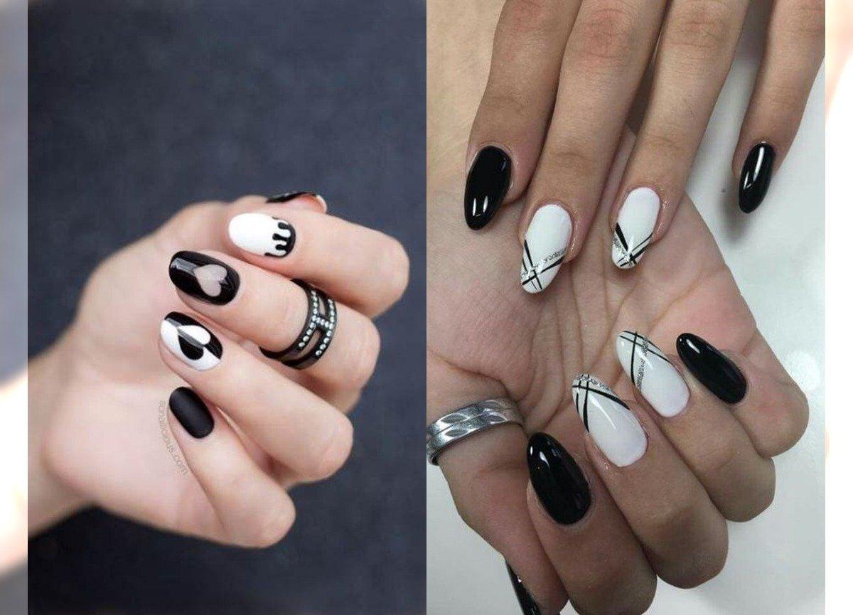Czarno Bialy Manicure Inspiracje W Opcji Black White Galeria 2020