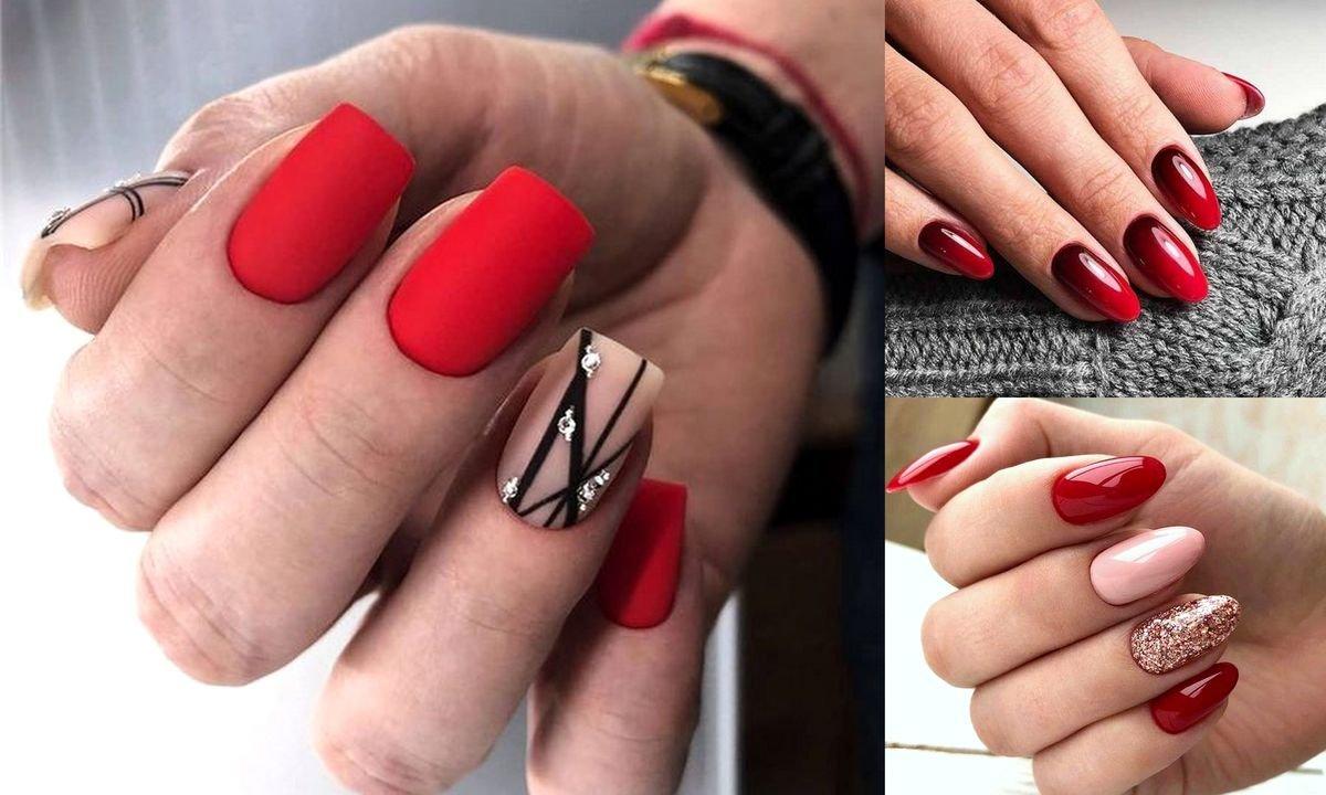 Czerwony Manicure 20 Nowoczesnych Stylizacji Paznokci
