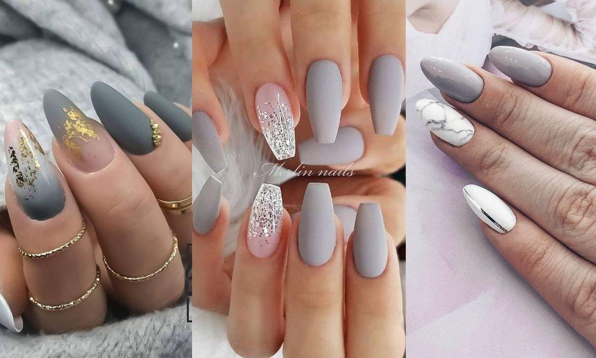 Szary Manicure Top 16 Stylizacji Ktore Cie Urzekna