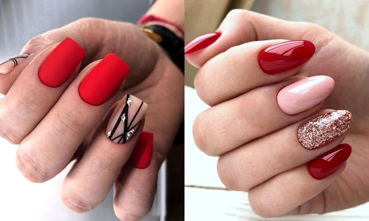 19 Pomyslow Na Czerwony Manicure Galeria Stylowych Zdobien