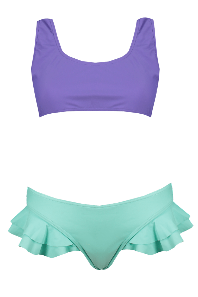 Mermaid Frill Crop Bikini