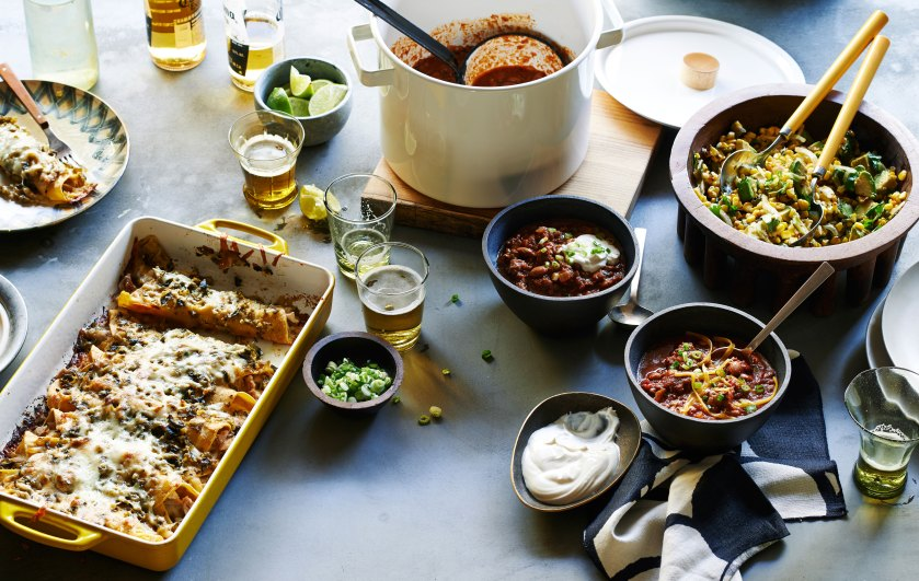 Green Chile Chicken Enchiladas with Munich Dark Lager