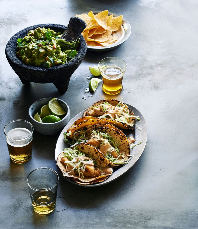 Baja Fried-Fish Tacos and American Pale Lager