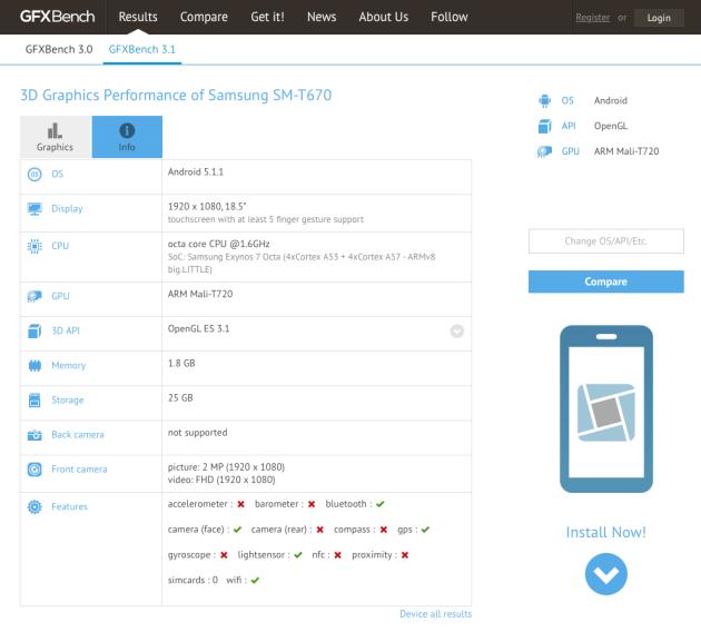 Samsung-Galaxy-View-GFXBench-leak