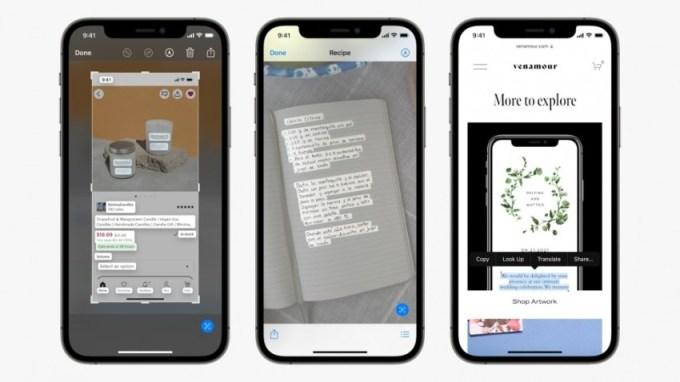 iOS 15 Canlı Metinler