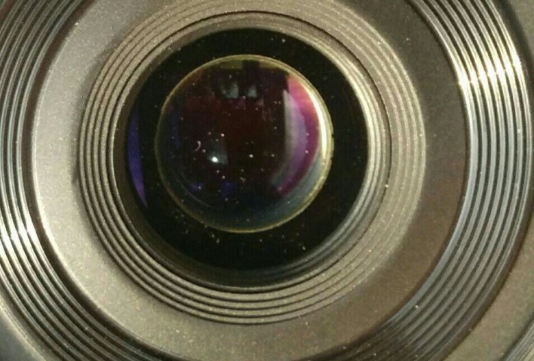 Dust in camera lens