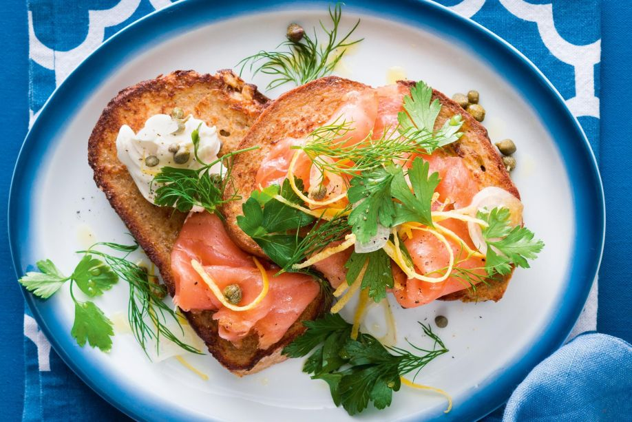 Hasil gambar untuk Smoked Salmon Toast