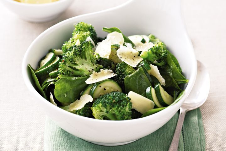 Sauteed broccoli, zucchini and baby spinach
