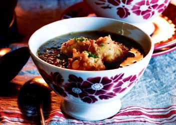 Fresh Recipe Caramelised onion soup with gruyere beignets