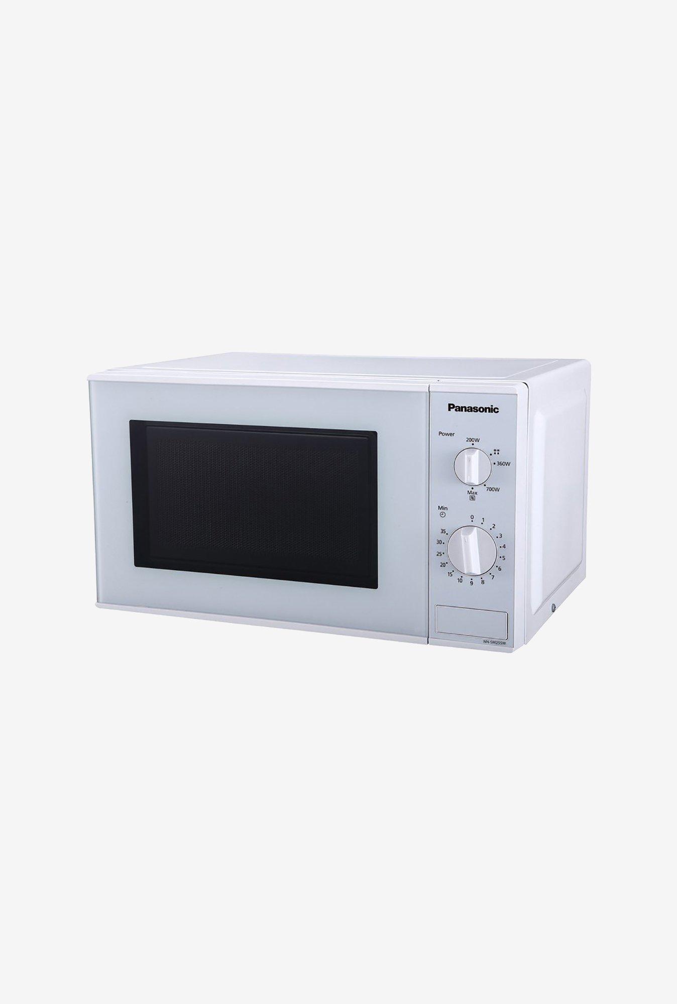 panasonic nn sm255wfdg 20l solo microwave oven white