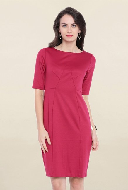 Avirate Pink Knee Length Dress
