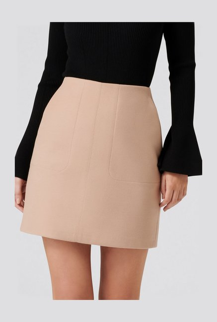 Forever New Tan Mini Skirt
