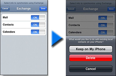 delete iphone contacts
