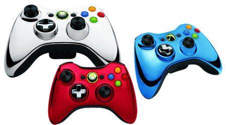 Nuevo control inalámbrico cromado para la Xbox 360