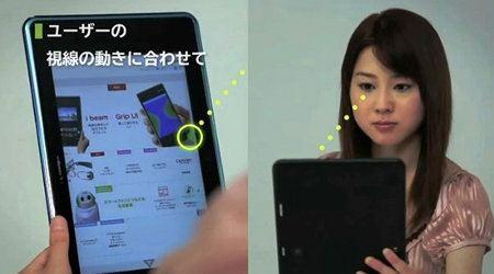 i beam es el tablet que podemos controlar con nuestros ojos