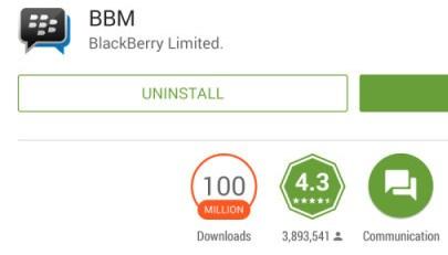 BBM ya fue instalada más de 100 millones de veces