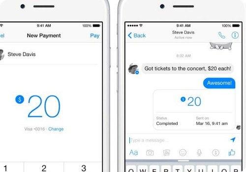 Facebook Messenger ahora te permite enviar dinero a tus amigos
