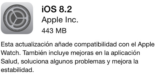 iOS 8.2 ya está disponible