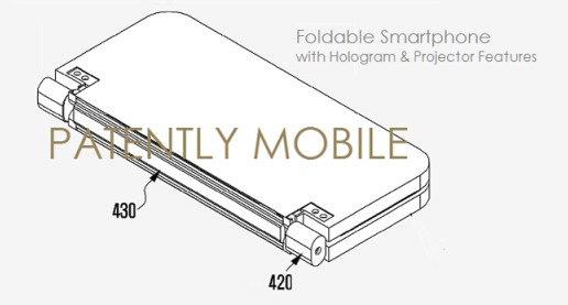 Samsung registra una patente para un smartphone con proyector