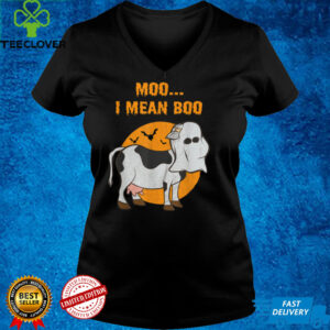Ghost Cow Moo I Mean Boo T Shirt