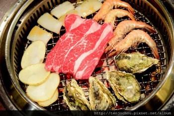【台北食記】中山區-極炙日式燒肉 生蠔+牛排吃到飽