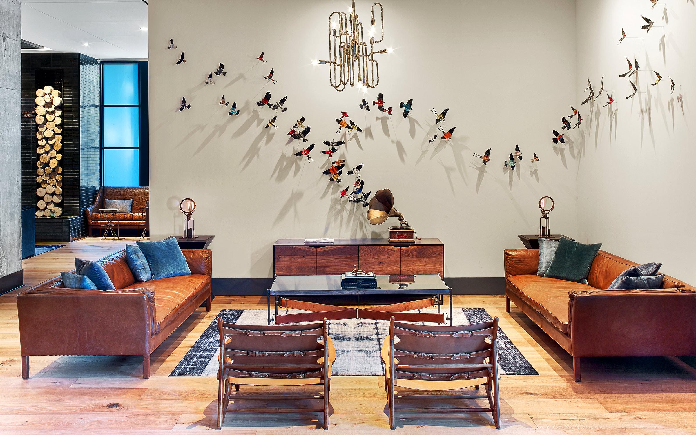 Living Room at Hotel Van Zandt.