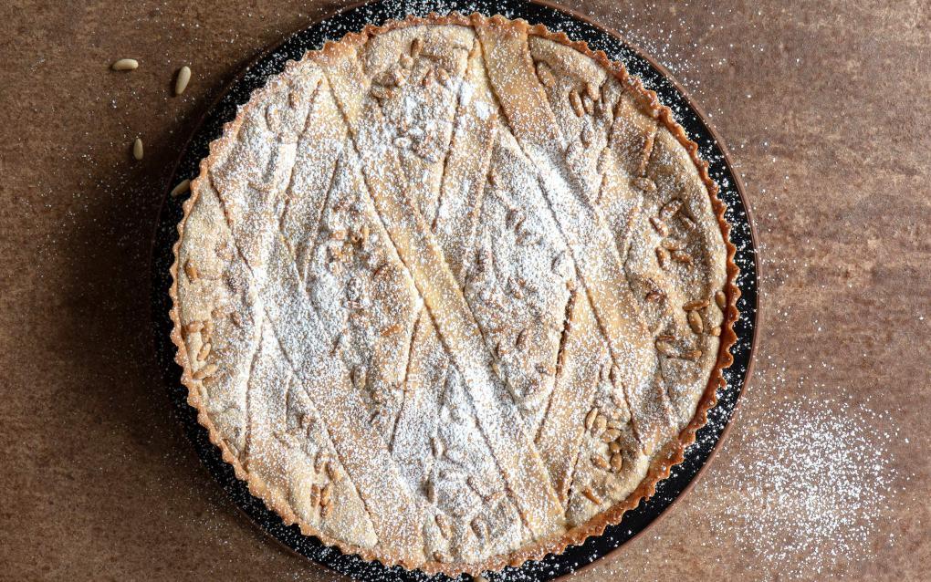 Liguria Cookbook Laurel Evans Pine Nut and Almond Tart