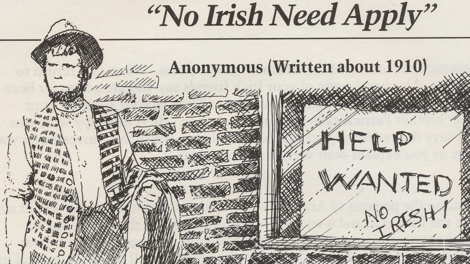 Irish Oppression America