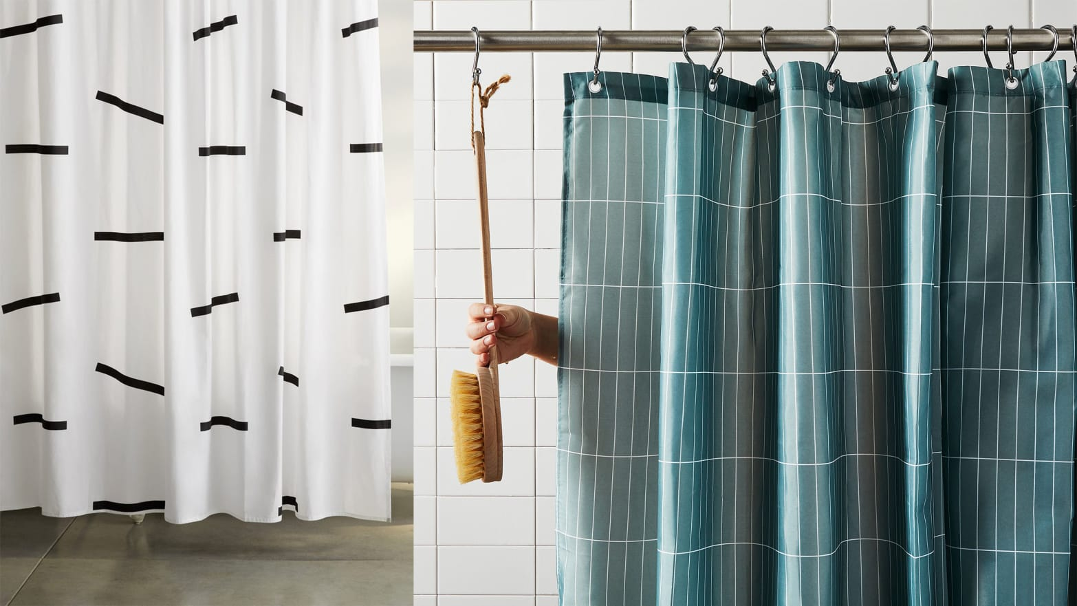 best machine washable shower curtains