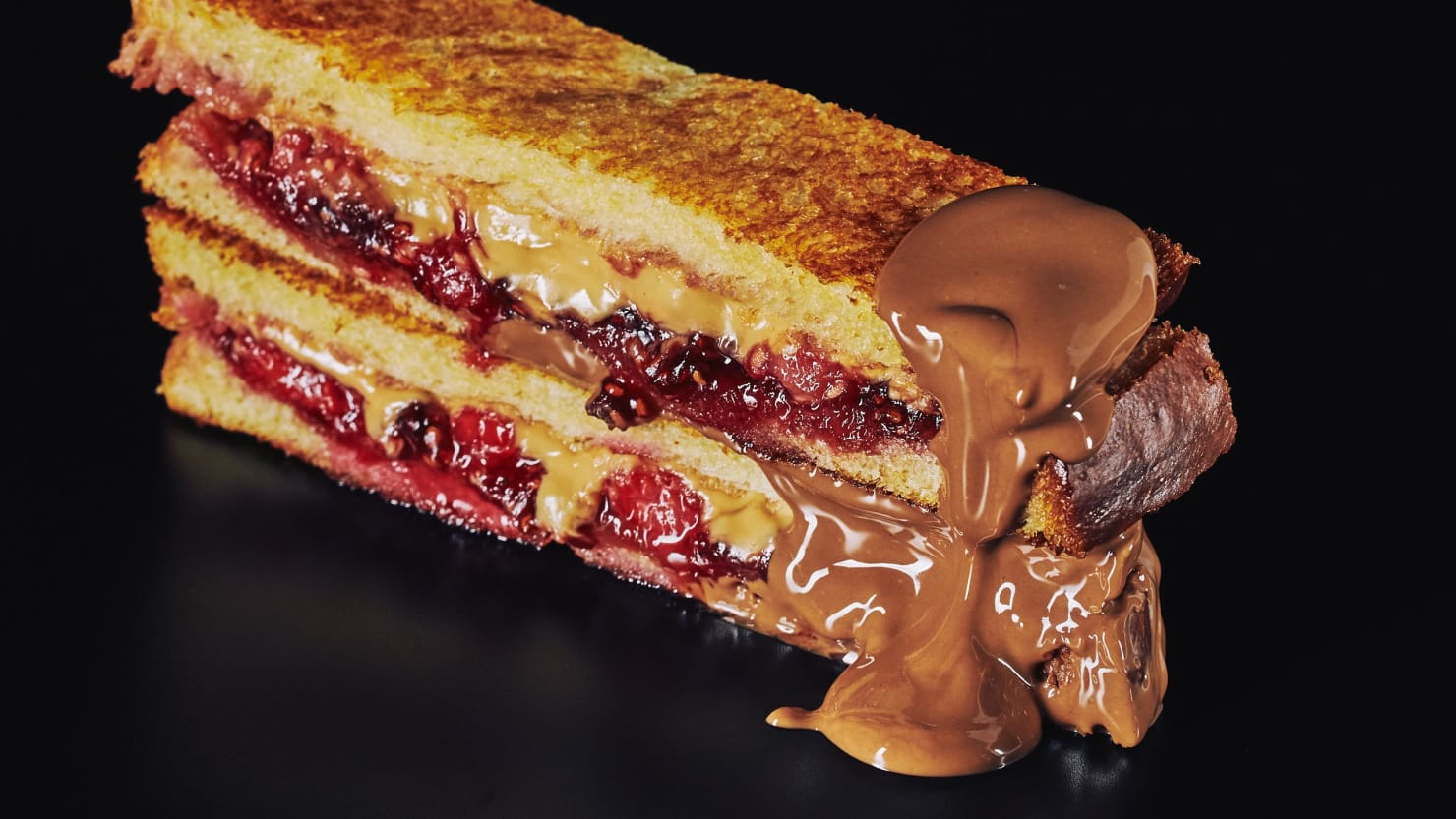 Make This Fried Peanut Butter Jelly Amp Chocolate Sandwich