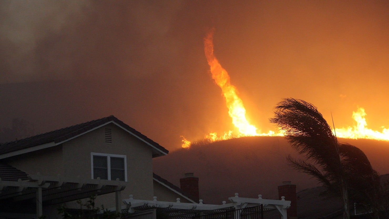 'Firenado' warning in California as out of control wildfires spread