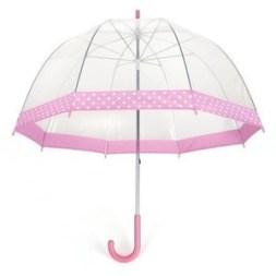 pink clear umbrella