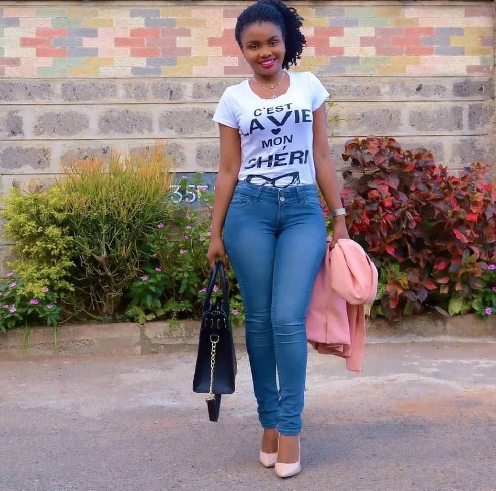 the elegant lane blue jeans
