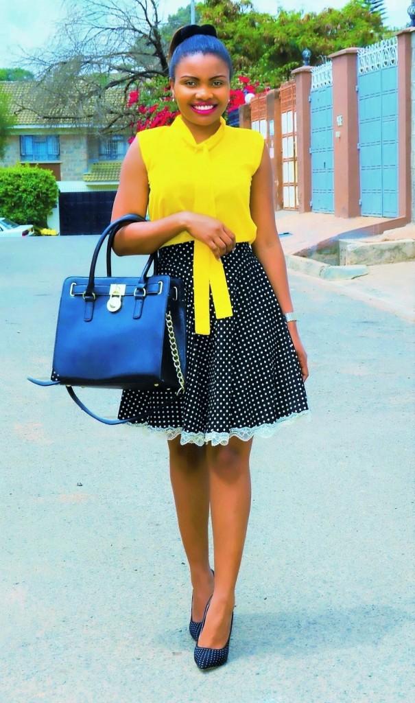 polka-dot diy skirt 4