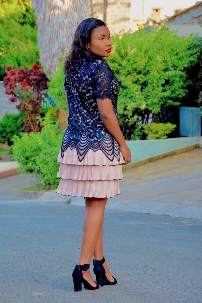 Apricot lace dress holiday dress