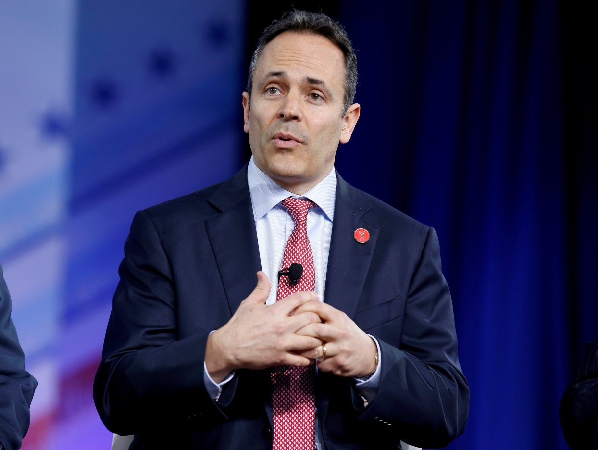 Republican Governor Matt Bevin of Kentucky speaks during the Conservative Political Action Conference (CPAC) in National Harbor, Maryland