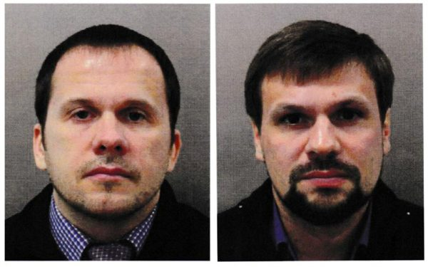 Alexander Petrov and Ruslan Boshirov in the image handed over by the police