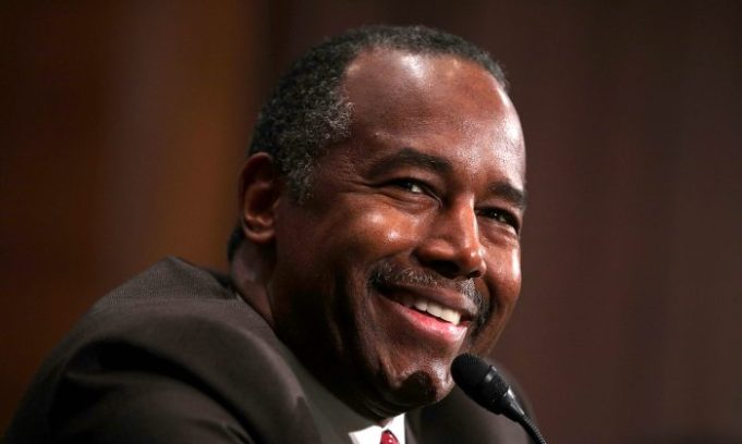 Then-Secretary of Housing and Urban Development-designate Ben Carson testifies during his confirmation hearing before Senate Banking, Housing and Urban Affairs Committee on Capitol Hill in Washington on Jan. 12, 2017. (Alex Wong/Getty Images)