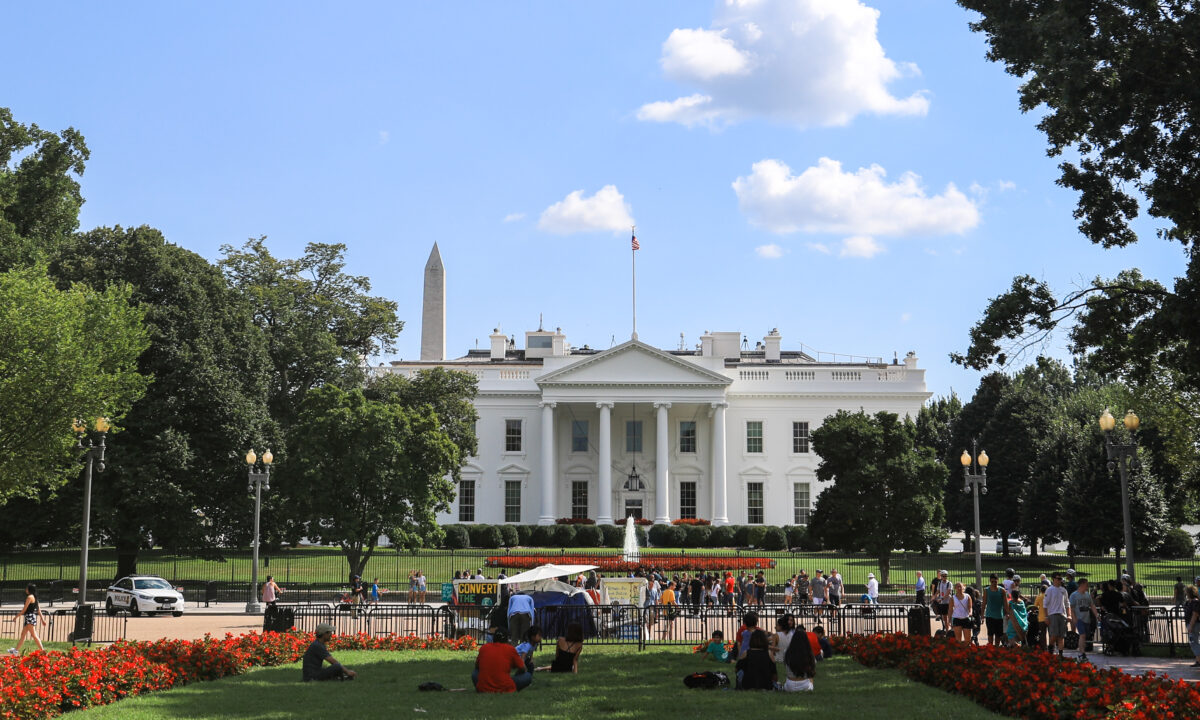 The White House in september
