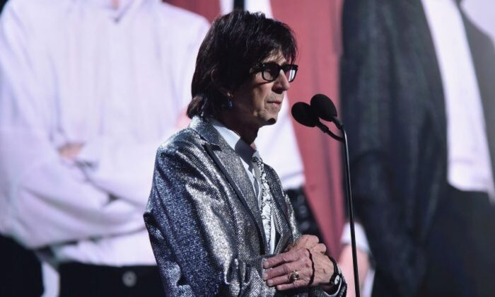 Ric Ocasek speaks onstage during the 33rd Annual Rock & Roll Hall of Fame Induction Ceremony at Public Auditorium in Cleveland, Ohio on April 14, 2018. (Theo Wargo/Getty Images For The Rock and Roll Hall of Fame)
