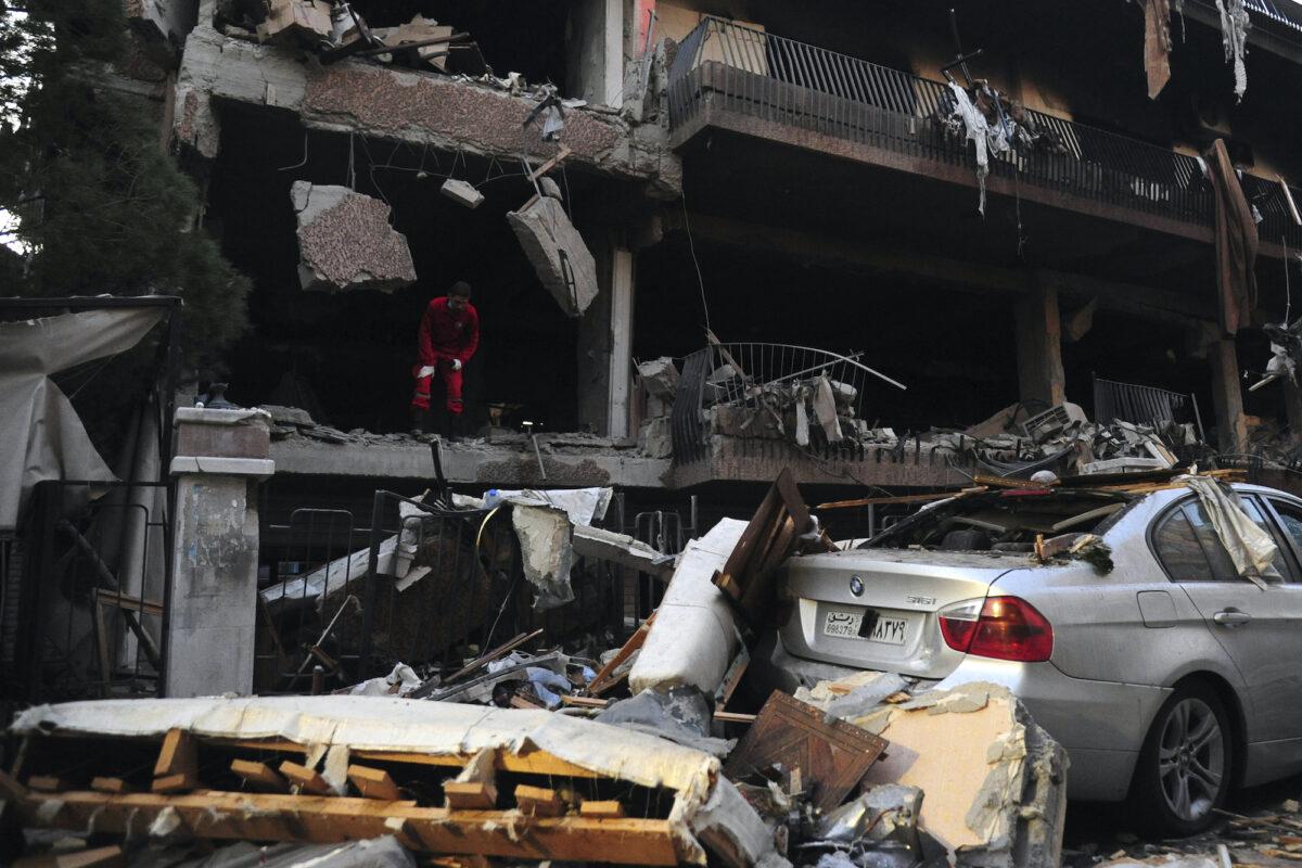 Damaged building Syria