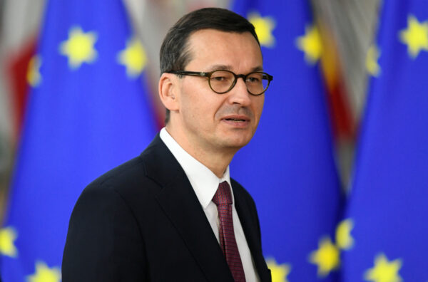 Poland's Prime Minister Mateusz Morawiecki arrives for the second day of the European Union leaders summit, in Brussels, Belgium October 18, 2019. (Piroschka van de Wouw/Reuters/File Photo)