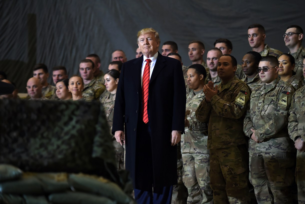 Trump speaks to the troops in Afghanistan