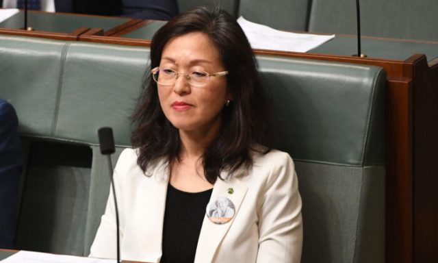 Liberal MP Gladys Liu in the House of Representatives at Parliament House in Canberra, Australia, on Nov. 25, 2019. (Tracey Nearmy/Getty Images)