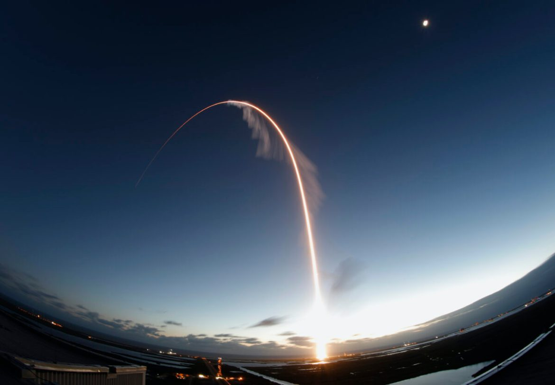 Atlas V rocket carrying the Boeing Starliner crew
