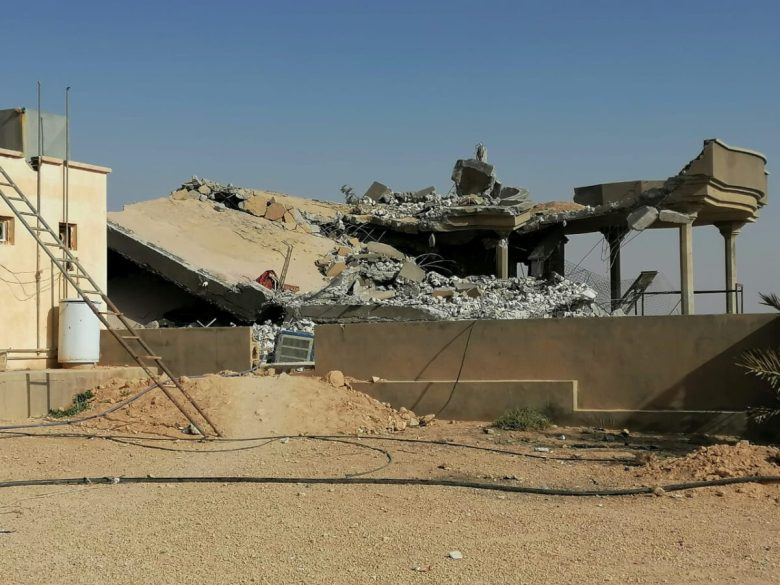 Destroyed headquarters of Kataib Hezbollah