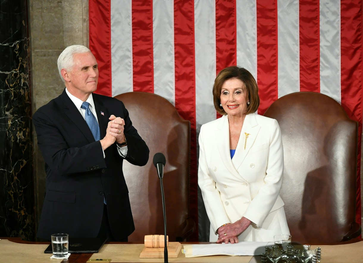 Vice President Mike Pence and Speaker of the House Nancy Pelosi